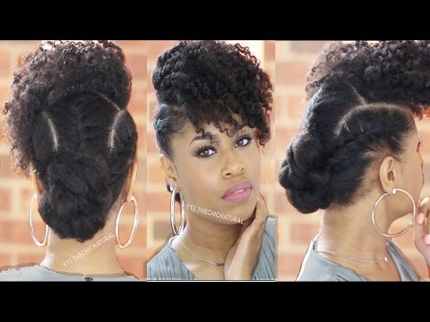 Today S Bnfrofriday Tutorial Video Is By Kim Of The Chic Natural And She Showing Up How To Acheive This Love Bun With Curly Bangs In Front