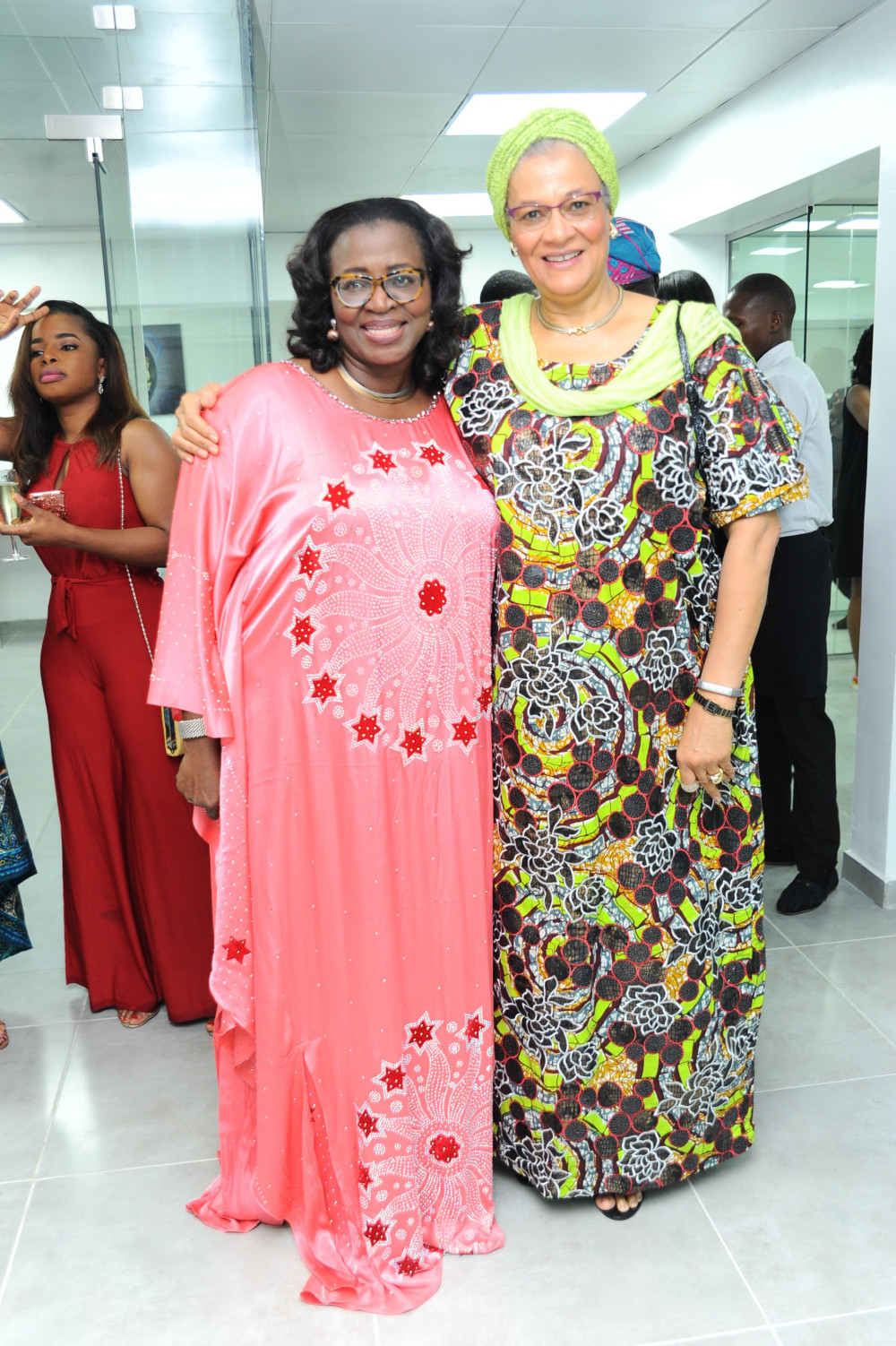 Funso Adegbola and Justice Amina Augie