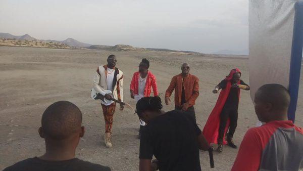 2Baba Sauti Sol Oya Make We Go Video Shoot BellaNaija (4)