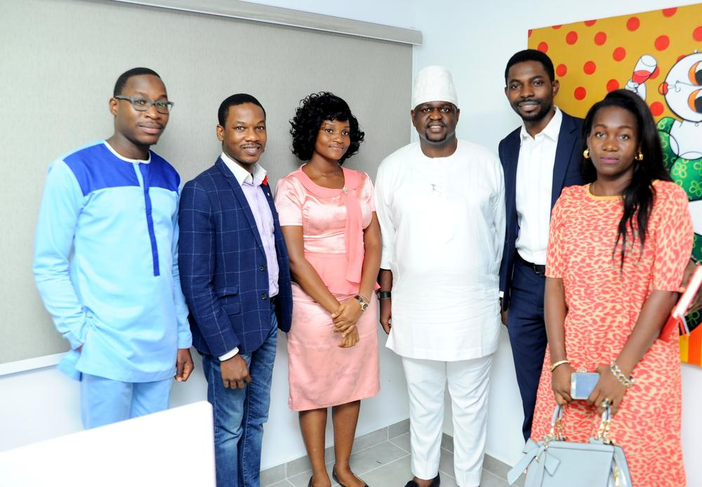 Kayode Adegbola with the BuffrSpace team