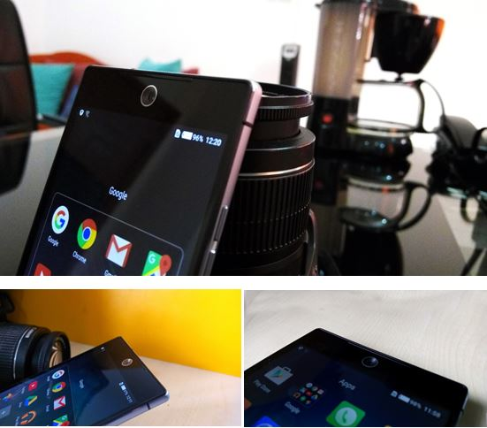 83° wide angle capture, 120° panoramic view on back front cameras