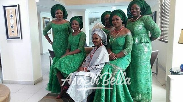 @abimbolagiwa and her Aso Ebi squad