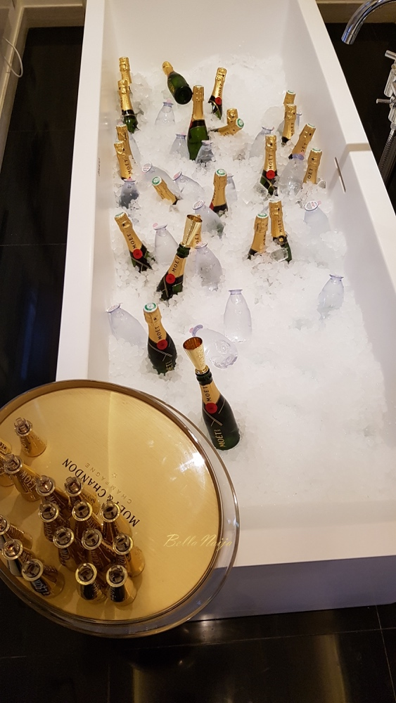A Bathtub filled with Mini Moet and Chandon_BN in France