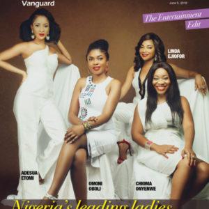 Countdown to AMAA 2016! Leading Ladies Omoni Oboli, Adesua Etomi, Linda Ejiofor & Chioma Onyenwe cover Vanguard Allure