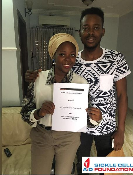 Adekunle Gold and Bukky Bolarinwa - SCAF President, Lagos Chapter