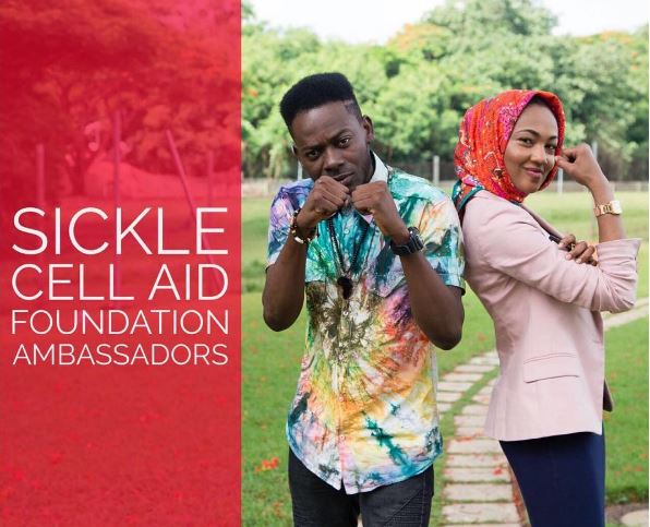Image result for adekunle gold and zahra buhari made sickle cell ambassadors