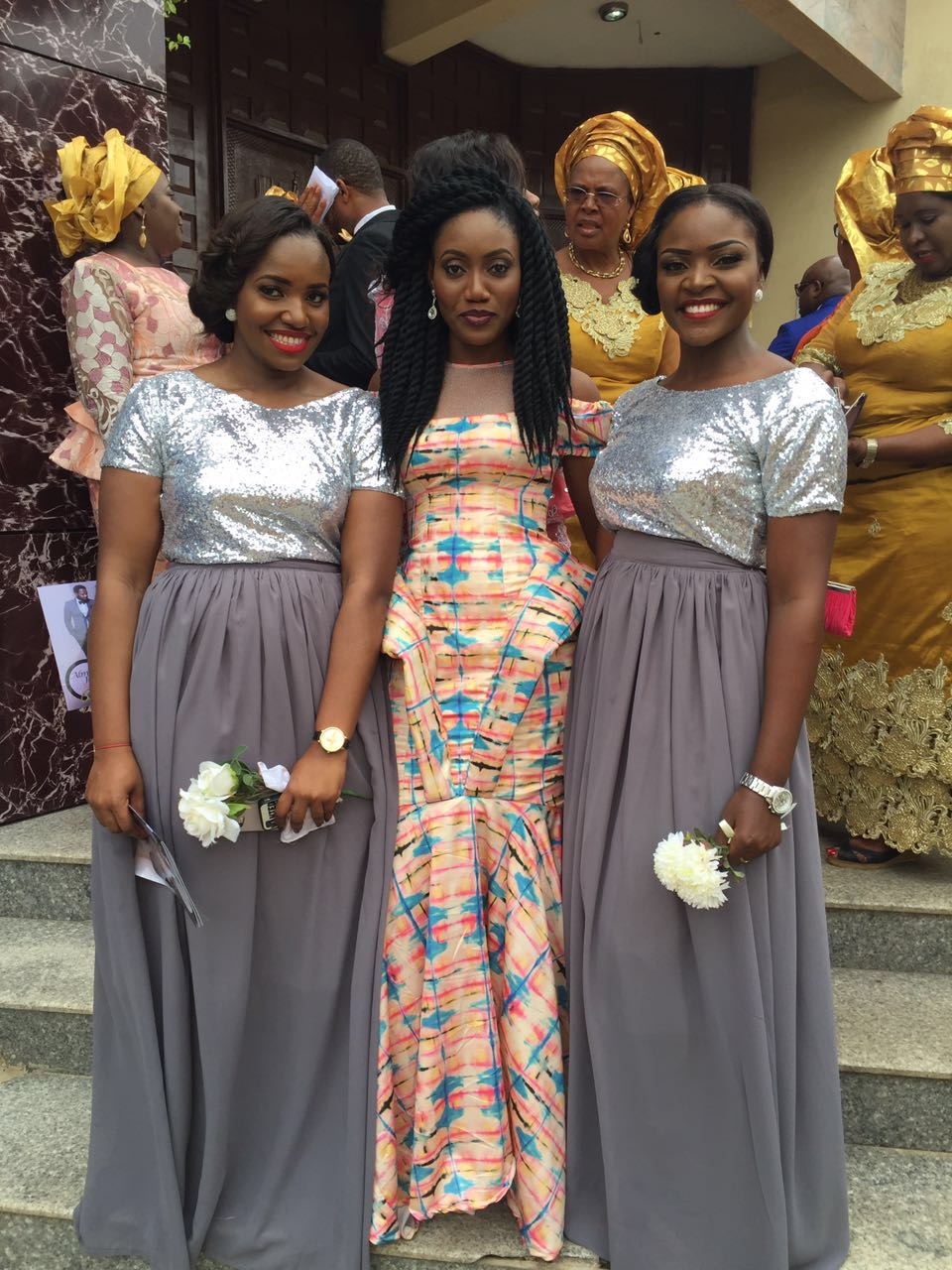 Patricia and two of my beautiful bridesmaids, Eunice and ChiChi