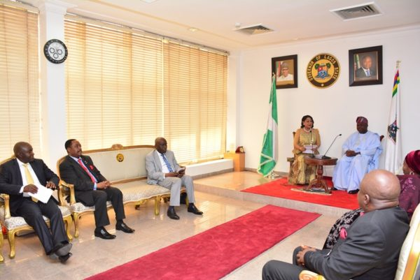 Governor Ambode on Monday Received the delegation of the Lagos Chamber of Commerce and Industry (LCCI)