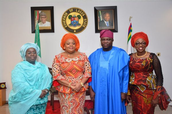 Ambode hosts Southern Govs Wives2