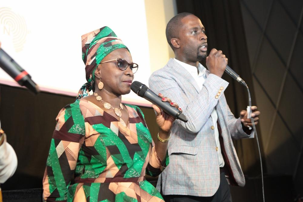Angelique KIDJO (marraine_godmother) and Serge NOUKOUE (founder NOLLYWOOD WEEK Festival)