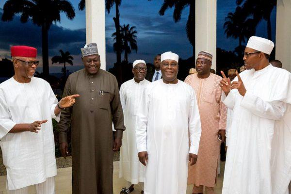 Buhari Hosts APC Leaders to Dinner2
