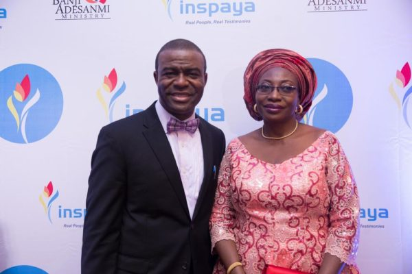 Evangelist Banji Adesanmi and Folasade Odunlami, Representative of the First Lady of Lagos State, Bolanle Ambode