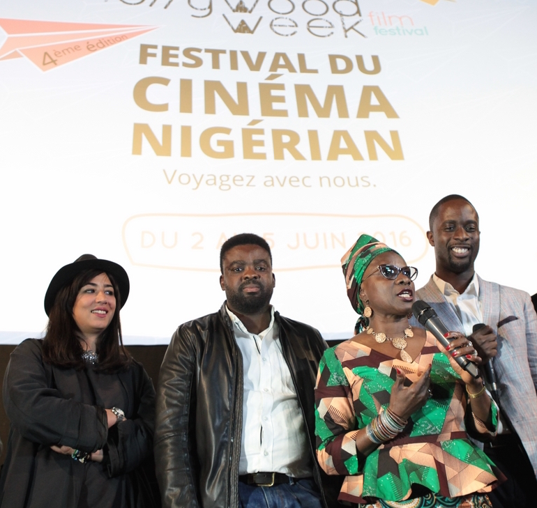 Fatym LAYACHI - Kunle AFOLAYAN - Angelique KIDJO (The CEO team) - serge NOUKOUE (NOLLYWOOD WEEK Festival founder)