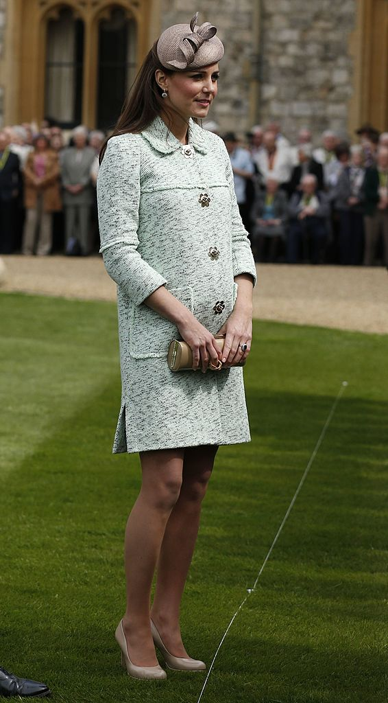 WINDSOR, UNITED KINGDOM - APRIL 21: Catherine, Duchess of Cambridge attends the National Review of Queen's Scouts at Windsor Castle on April 21, 2013. (Photo by Olivia Harris - WPA Pool/Getty Images)