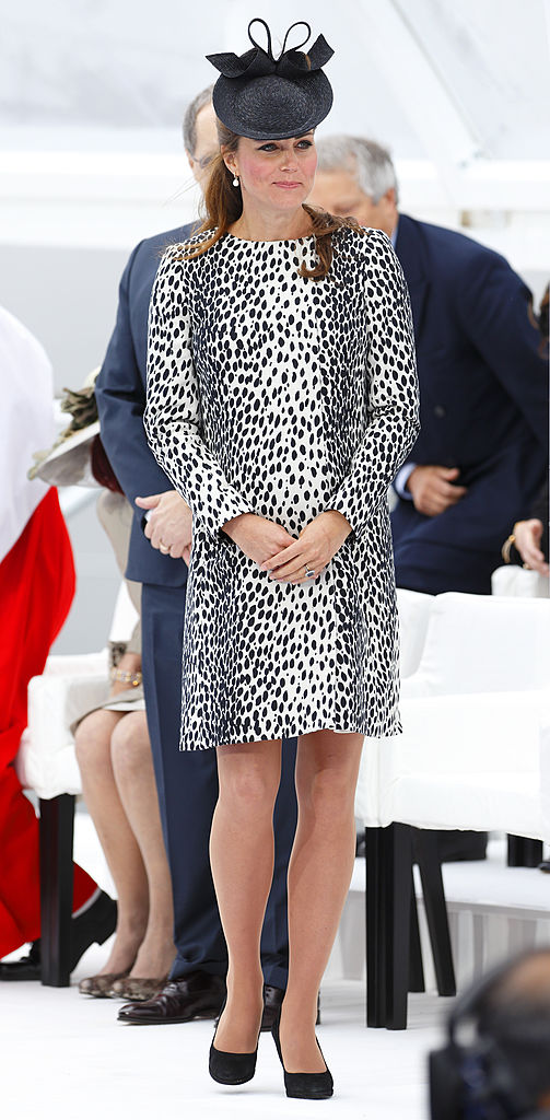 SOUTHAMPTON, UNITED KINGDOM - JUNE 13: (EMBARGOED FOR PUBLICATION IN UK NEWSPAPERS UNTIL 48 HOURS AFTER CREATE DATE AND TIME) Catherine, Duchess of Cambridge attends the naming ceremony for the new Princess Cruises ship 'Royal Princess' on June 13, 2013 in Southampton, England. The Duchess of Cambridge, as the ship's godmother, officially named the Royal Princess with a traditional blessing involving smashing a bottle of Champagne over the ship's hull in what is expected to her final solo engagement before the birth of her and Prince William's child. (Photo by Max Mumby/Indigo/Getty Images)