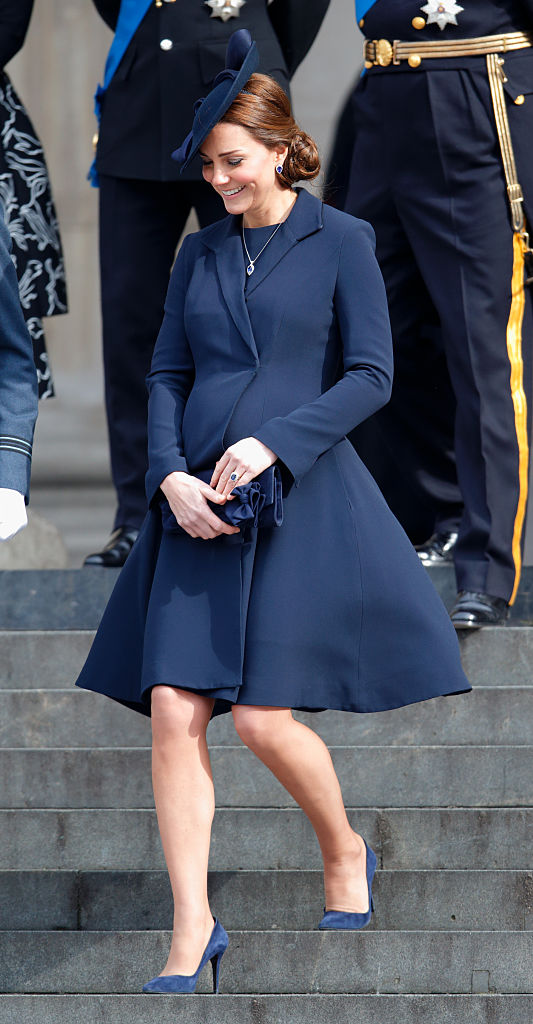 LONDON, UNITED KINGDOM - MARCH 13: (EMBARGOED FOR PUBLICATION IN UK NEWSPAPERS UNTIL 48 HOURS AFTER CREATE DATE AND TIME) Catherine, Duchess of Cambridge attends a Service of Commemoration to mark the end of combat operations in Afghanistan at St Paul's Cathedral on March 13, 2015 in London, England. (Photo by Max Mumby/Indigo/Getty Images)