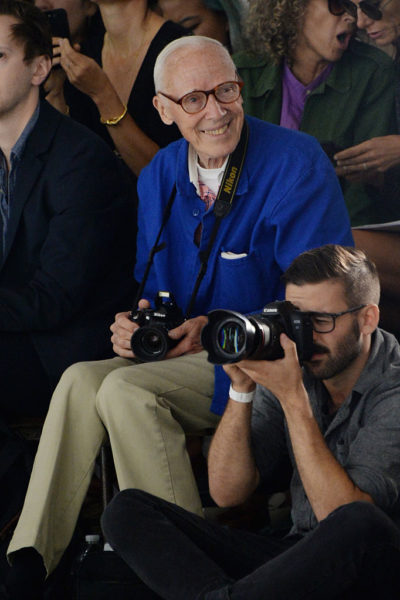 NEW YORK, NY - SEPTEMBER 15: Photographer Bill Cunningham attends Rodarte Spring 2016 during New York Fashion Week at Center 548 on September 15, 2015 in New York City.  (Photo by Ben Gabbe/Getty Images)