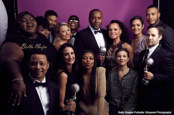 PASADENA, CA - FEBRUARY 05: Cast and Crew of 'Empire', winners of the Outstanding Drama Series award, pose for a portrait during the 47th NAACP Image Awards presented by TV One at Pasadena Civic Auditorium on February 5, 2016 in Pasadena, California. (Photo by JSquared Photography/Getty Images for NAACP Image Awards