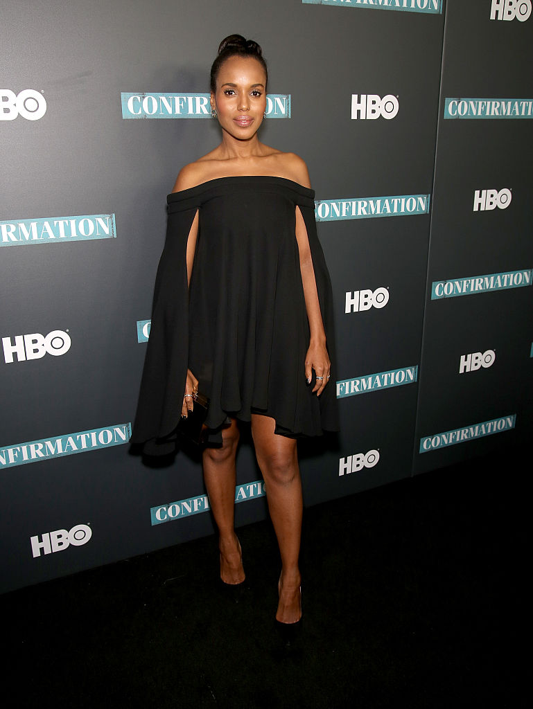 "NEW YORK, NEW YORK - APRIL 07: Actress/Execuitive Producer Kerry Washington poses at the NYC Special Screening of HBO Film ""Confirmation"" at Signature Theater on April 7, 2016 in New York City. (Photo by Paul Zimmerman/Getty Images for HBO)"
