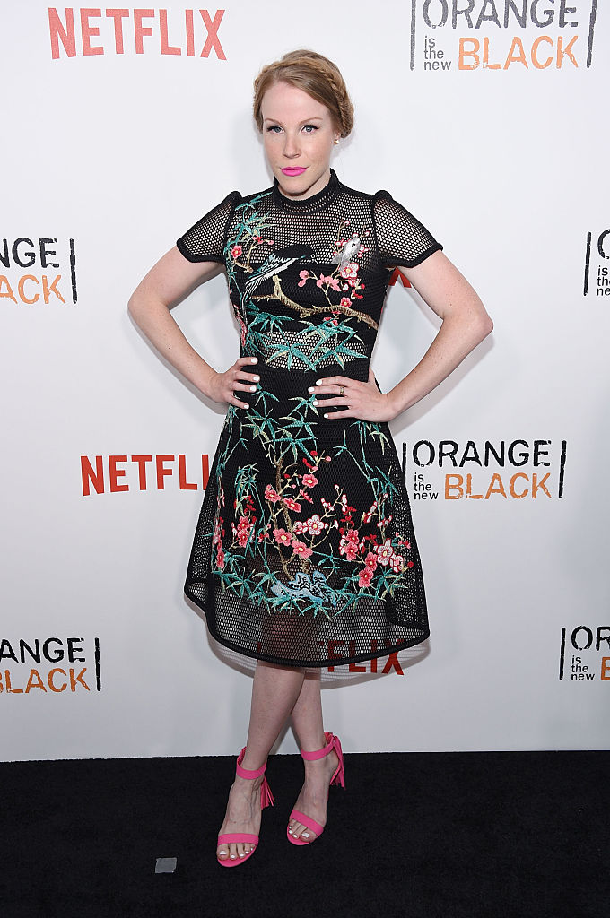 "NEW YORK, NY - JUNE 16: Actress Emma Myles attends ""Orange Is The New Black"" premiere at SVA Theater on June 16, 2016 in New York City. (Photo by Dimitrios Kambouris/Getty Images)"