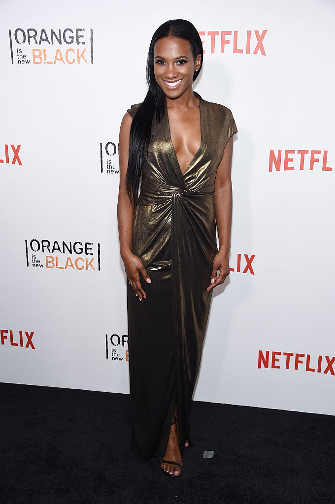 "NEW YORK, NY - JUNE 16: Actress Vicky Jeudy attends ""Orange Is The New Black"" premiere at SVA Theater on June 16, 2016 in New York City. (Photo by Dimitrios Kambouris/Getty Images)"