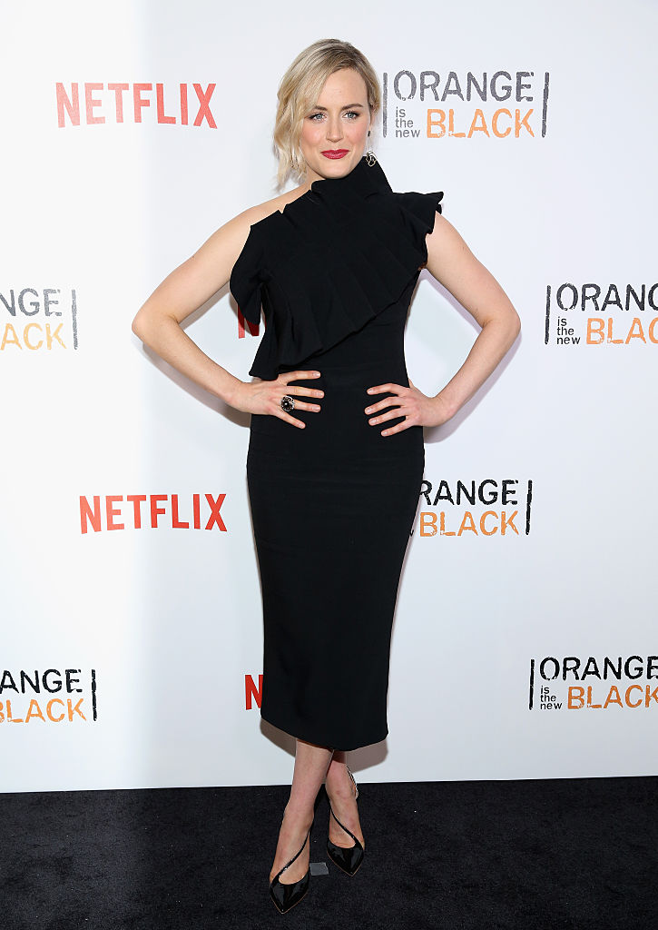 "NEW YORK, NY - JUNE 16: Actress Taylor Schilling attends ""Orange Is The New Black"" New York City Premiere at SVA Theater on June 16, 2016 in New York City. (Photo by Robin Marchant/Getty Images)"
