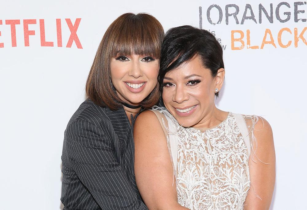 "NEW YORK, NY - JUNE 16: Actress Jackie Cruz and Selenis Leyva attend ""Orange Is The New Black"" New York City Premiere at SVA Theater on June 16, 2016 in New York City. (Photo by Robin Marchant/Getty Images)"