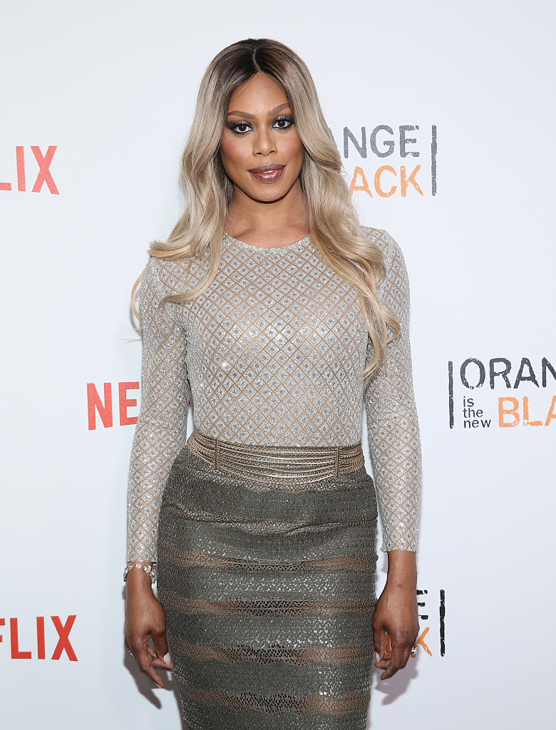 "NEW YORK, NY - JUNE 16: Actress Laverne Cox attends ""Orange Is The New Black"" New York City Premiere at SVA Theater on June 16, 2016 in New York City. (Photo by Robin Marchant/Getty Images)"
