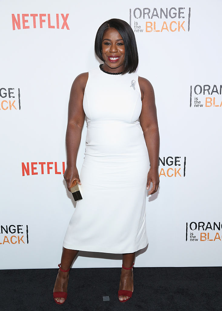 "NEW YORK, NY - JUNE 16: Actress Uzo Aduba attends ""Orange Is The New Black"" New York City Premiere at SVA Theater on June 16, 2016 in New York City. (Photo by Robin Marchant/Getty Images)"