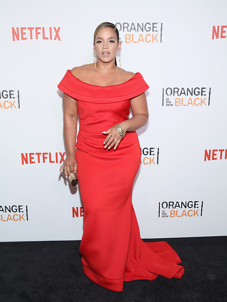 "NEW YORK, NY - JUNE 16: Actress Dascha Polanco attends ""Orange Is The New Black"" New York City Premiere at SVA Theater on June 16, 2016 in New York City. (Photo by Robin Marchant/Getty Images)"