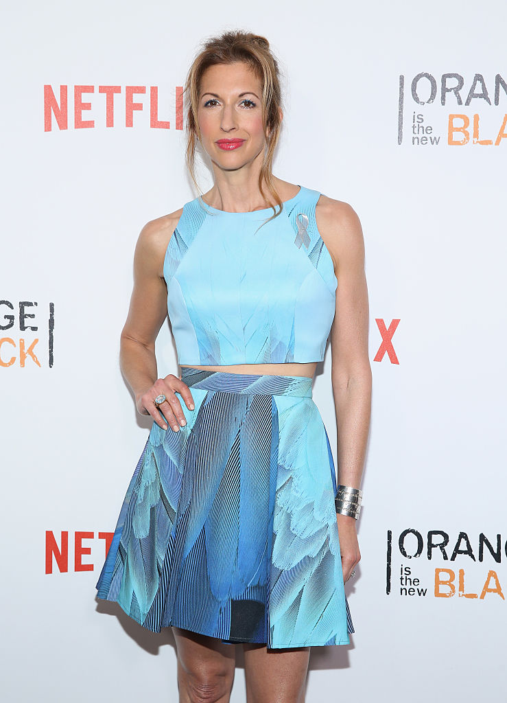 "NEW YORK, NY - JUNE 16: Actress Alysia Reiner attends ""Orange Is The New Black"" New York City Premiere at SVA Theater on June 16, 2016 in New York City. (Photo by Robin Marchant/Getty Images)"