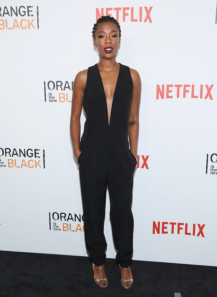 "NEW YORK, NY - JUNE 16: Actress Samira Wiley attends ""Orange Is The New Black"" New York City Premiere at SVA Theater on June 16, 2016 in New York City. (Photo by Robin Marchant/Getty Images)"