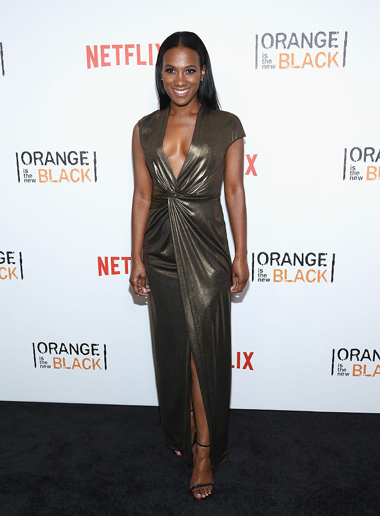 "NEW YORK, NY - JUNE 16: Actress Vicky Jeudy attends ""Orange Is The New Black"" New York City Premiere at SVA Theater on June 16, 2016 in New York City. (Photo by Robin Marchant/Getty Images)"