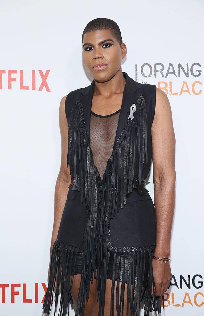 "NEW YORK, NY - JUNE 16: EJ Johnson attends ""Orange Is The New Black"" New York City Premiere at SVA Theater on June 16, 2016 in New York City. (Photo by Robin Marchant/Getty Images)"