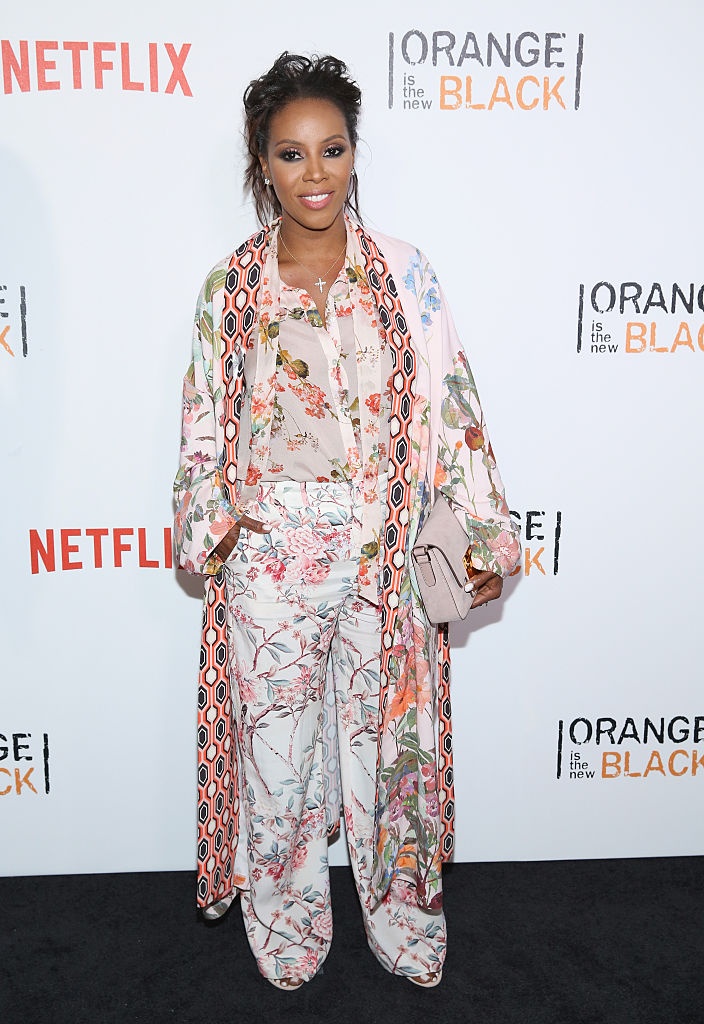 "NEW YORK, NY - JUNE 16: June Ambrose attends ""Orange Is The New Black"" New York City Premiere at SVA Theater on June 16, 2016 in New York City. (Photo by Robin Marchant/Getty Images)"