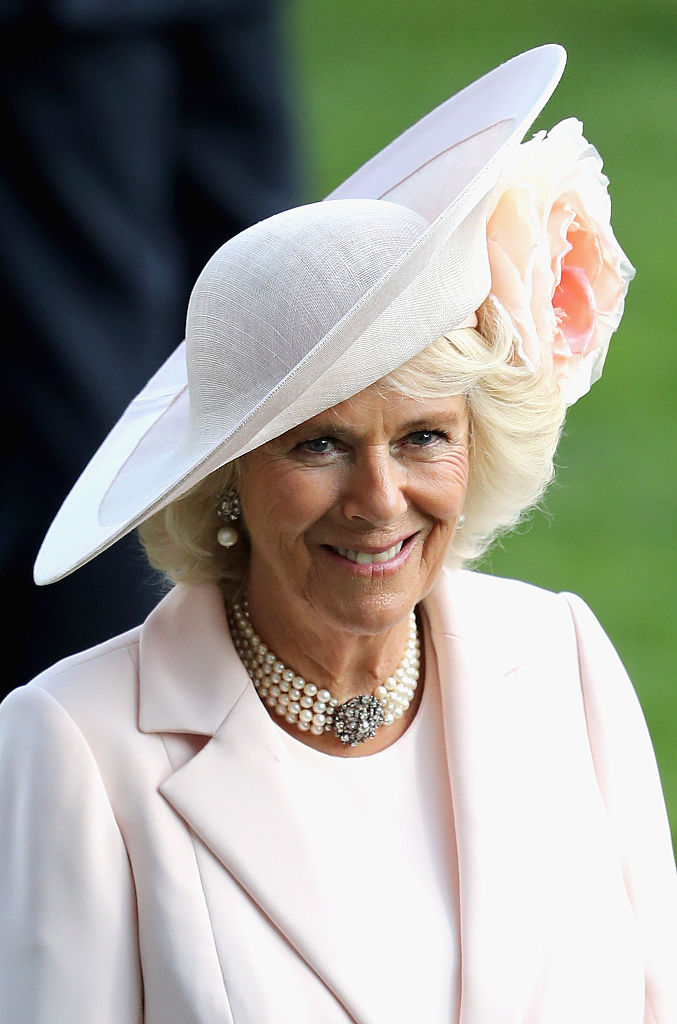 ASCOT, ENGLAND - JUNE 17:  Camilla, Duchess of Cornwall on the fourth day of Royal Ascot at Ascot Racecourse  on June 17, 2016 in Ascot, England.  (Photo by Chris Jackson/Getty Images)