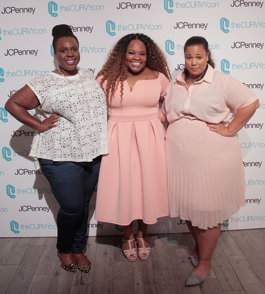 NEW YORK, NY - JUNE 18: Co-Founders of TheCurvyCon CeCe Olisa (L) and Chastity Garner (R) pose with Grammy Award Winning Gospel Artist Tasha Cobbs (c) during TheCurvyCon 2016 at Metropolitan Pavilion West on June 18, 2016 in New York City. (Photo by Randy Brooke/Getty Images)