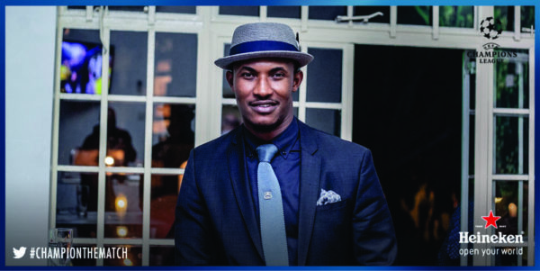 Gideon Okeke at the Heineken House Lagos