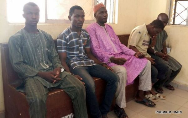 Suspected Killers of Kano Femal Trader. Photo Credit: Mohammed Kabir/PREMIUM TIMES