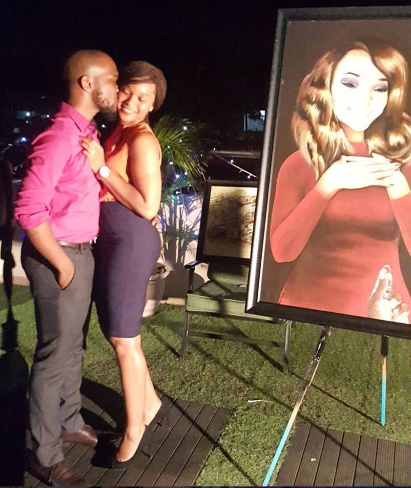 Ilamina and Olise Painting Proposal in Nigeria_bellanaija 2016_01