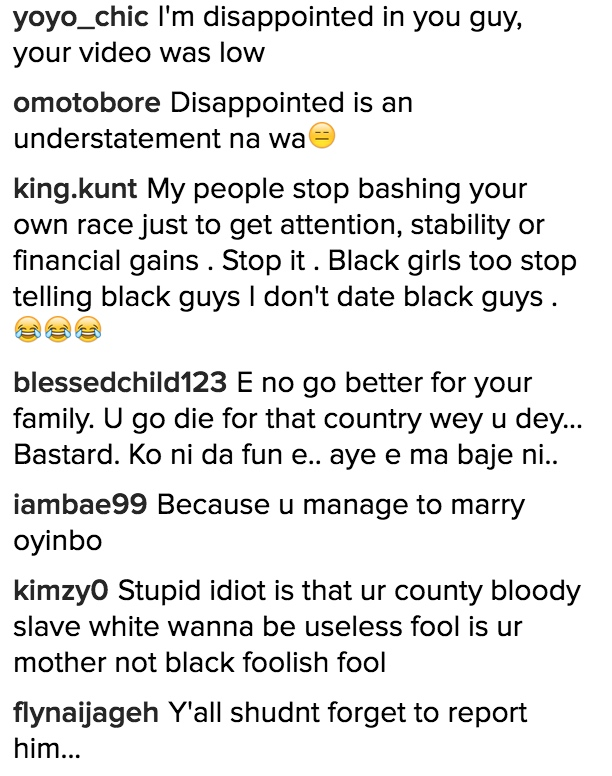 Klinton Cod Black Girl Comments 2