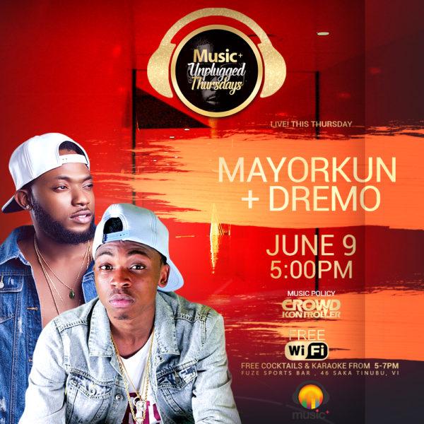 MUSIC PLUS NEW TEMPLATE SINGLE Mayorkun + Dremo