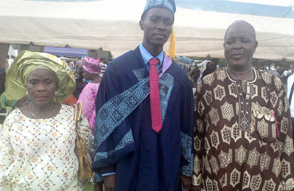Aderibigbe and His Parents