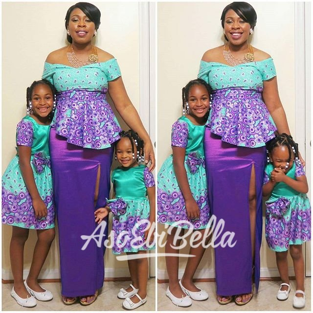 Mom's Dress by @keniascustomtaylor Daughters Dresses by @soniatoriodesigns_usa