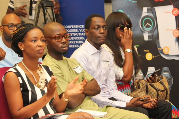 NEW MEDIA CONFERENCE 2016 - LOLA MASHA, OLUSHOLA AROMOKUN, FEMI FALODUN AND ONAH UWACHUKWU OF HELLO NIGERIA
