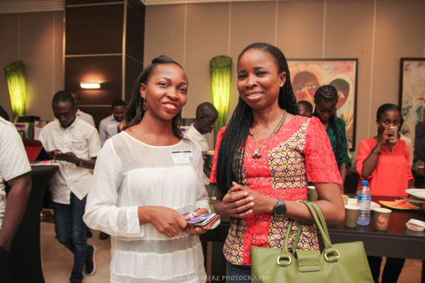 NEW MEDIA CONFERENCE 2016  -  OLAJUMOKE OKIKIOLU WITH A PARTICIPANT
