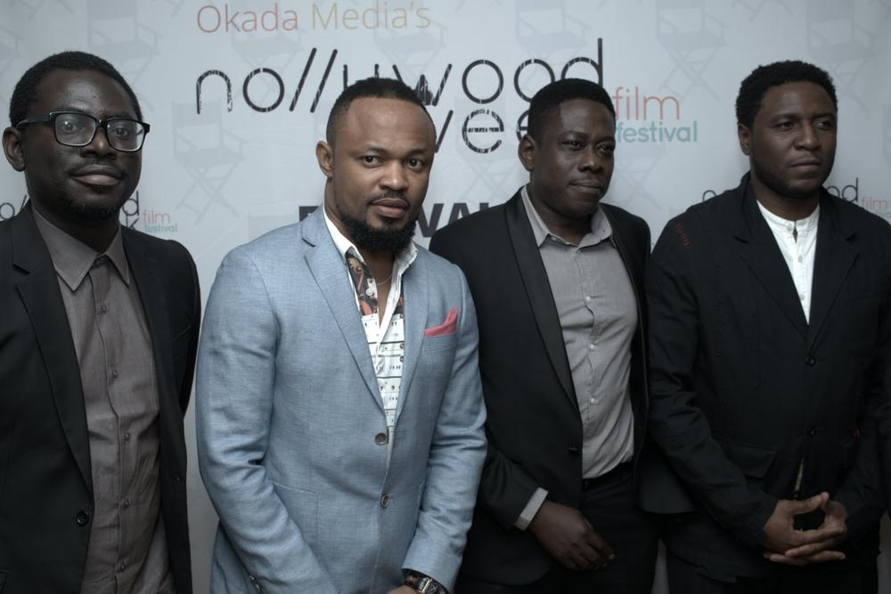 Niyi AKINMOLAYAN (Falling's Director) - Moses INWANG (Stalker's Director) - Walter TAYLAUR (Gbomo Gbomo Express' Director) - Seyi BABATOPE (Lunch Time Heroes' Director)