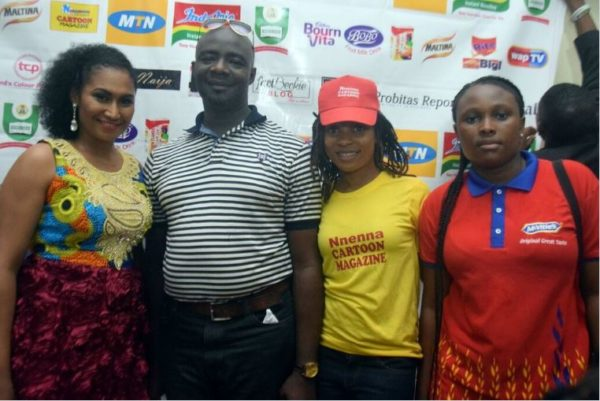 Nnenna with Haansbro Team