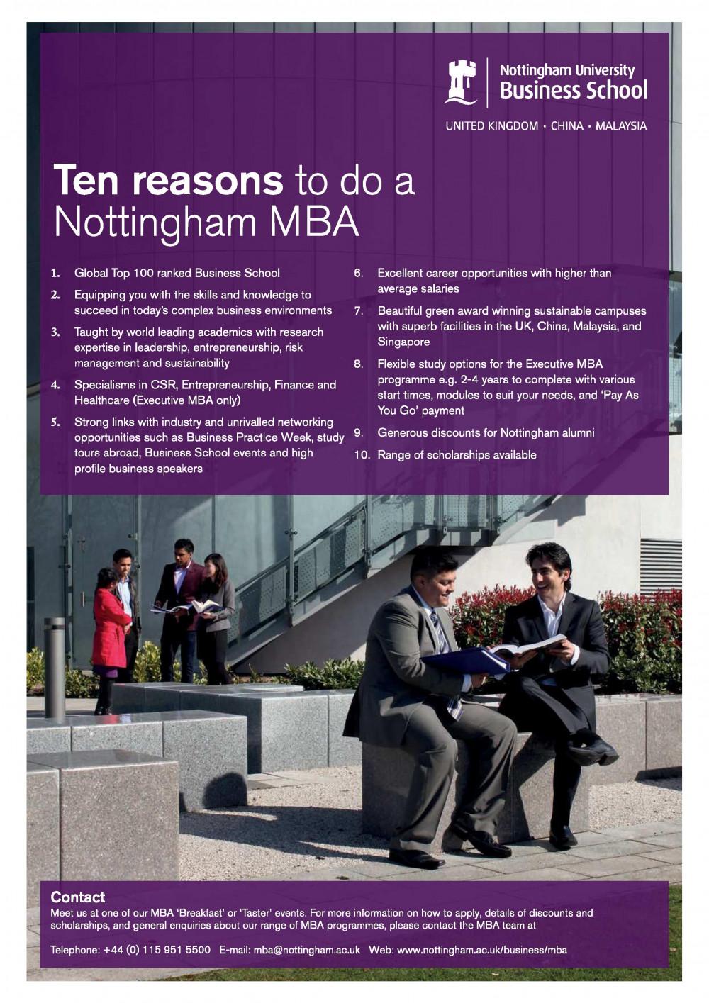 Nottingham MBA