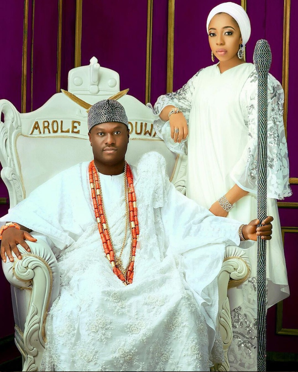 Image result for Ooni Of Ife And His Olori Zainab Wuraola